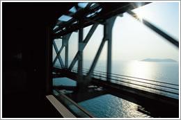 瀬戸大橋の上から
