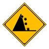 警戒標識「落石のおそれあり」 合宿免許スーパー