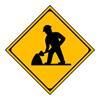 警戒標識「道路工事中」合宿免許スーパー